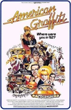 """""""American graffiti"""" directed by George Lucas / 3rd grossing film in 1973"""
