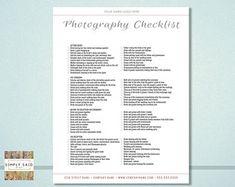 Wedding Photography Checklist template Wedding photographer | Etsy Wedding Checklist Template, Wedding Photo Checklist, Wedding Photo List, Wedding Photos, Wedding Ideas, Trendy Wedding, Diy Wedding, Wedding Wishes, Autumn Wedding
