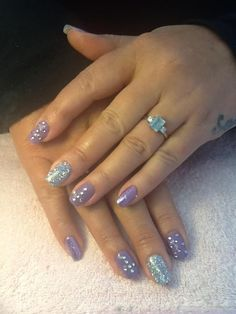 Lilac and glitter