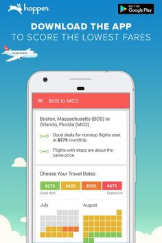 Hopper tells you when to fly & buy! Save up to 40% on your next flight ✈️