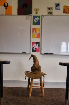 The Charming Classroom The Sorting Hat Harry Potter themed classroom.