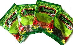 Jade Brand Li Hing Mui Snack Pack of 4 - 1 each of Sweet Li Hing Mui, Red Sweet Li Hing Mui, Li Hing Dried Mango, and Rock Salt Plum