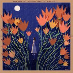 Once Upon A Moonlight Among The Wildflowers... (Illustrated by Kathrin Honesta)