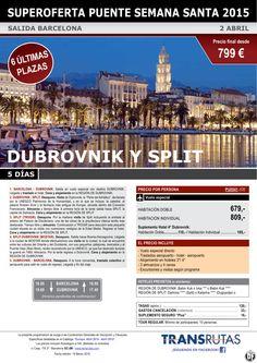 DUBROVNIK y Split / 5 días ¡¡6 Últimas Plazas Puente Semana Santa: 2 abril!! sal. Barcelona ultimo minuto - http://zocotours.com/dubrovnik-y-split-5-dias-6-ultimas-plazas-puente-semana-santa-2-abril-sal-barcelona-ultimo-minuto/