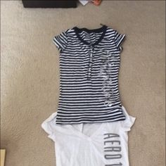 This is an XS Aeropostale tshirt bundle! This is a cute two tops. They have never been worn and are new, just no tags on them! Very cute and need a new home! All proceeds of my sales go toward paying for my medical school applications Aeropostale Tops Tees - Short Sleeve