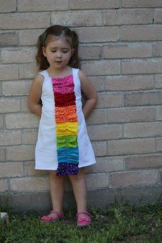 Alyssa's art party dress inspired by Pinterest.