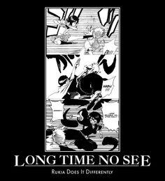 manga // bleach / rukia / ichigo