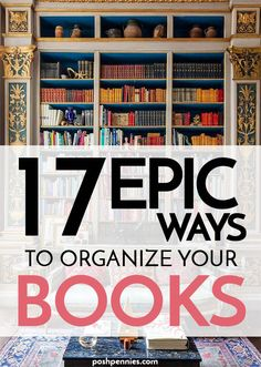 You may not like all the book organization methods listed, but I am betting you will find at least ONE that you can get on board with! For all my bookworm friends out there, check it out. Arranging Bookshelves, Styling Bookshelves, Cool Bookshelves, Bookshelf Design, Leaning Bookshelf, Bookshelf Ideas, Bookcases, Bookshelf Makeover, Bookshelf Organization