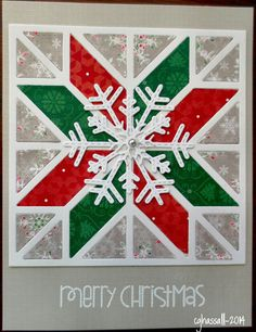 New MFT Quilt Square die and Lil Inkers snowflakes