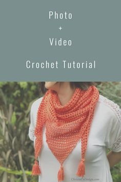 Free crochet shawl pattern for a light and airy summer shawl. This photo tutorial guides you step by step to crochet your own mesh shawl. This free crochet pattern is easily adaptable to fit you perfectly. Crochet Shawls And Wraps, Crochet Scarves, Easy Crochet, Free Crochet, Crochet Summer, Crochet Triangle Scarf, Shawl Patterns, Crochet Patterns For Beginners, Crochet Videos