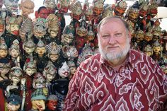 "Gregory Churchill of Jakarta has more than 6,000 puppets and masks in his collection. Fortunately, he says, ""I have an affliction of cataloguin things. I like to keep track."""
