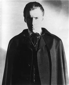 Sir Christopher Lee ~ my hero Vampire Dracula, Prince Of Darkness, Count Dracula, Hammer Films, Famous Monsters, Gothic Horror, Vintage Horror, Black And White Portraits, Horror Films
