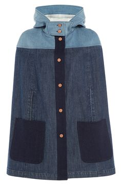 Denim Cape detail 0