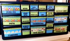 Cute organization idea for a classroom