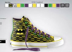 ad75ef7fa4f0 Batman Converse Custom Shoes! Batman Converse