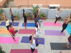 Yoga at a #yoga and surf holiday with Surf Star Morocco, located in the Berbere village of Tamraght, Morocco.