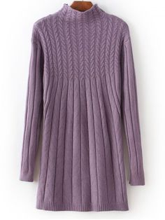 GET $50 NOW | Join RoseGal: Get YOUR $50 NOW!http://www.rosegal.com/sweater-dresses/high-neck-long-sleeve-cable-692965.html?seid=6145535rg692965