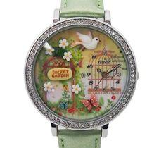 Polymer Clay Quartz Lady Watch Aristocrat Dove Fashion Polymer Clay Digital Analog Watch Secret Garden Style with Rhinestones