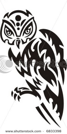 Tattoos Zone: Tribal Owl Tattoo Designs