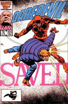 Daredevil # 231 by David Mazzucchelli