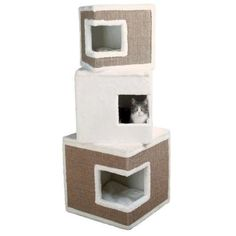 Shop for Trixie Lilo Modular MDF/Sisal Rope/Polyester Cat Tower and Scratching Post. Get free delivery On EVERYTHING* Overstock - Your Online Cat Supplies Store! Small Cat Tree, Hiding Cat Litter Box, Cat Tree Designs, Cat Tree House, Outdoor Cat Enclosure, Pumpkin Dog Treats, Tree Furniture, Cat Towers, Sisal Rope