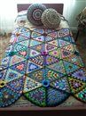 Afghan and cushions - Crochet Me
