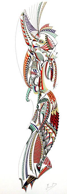 Marcapiano, Anima danzante, china a colori