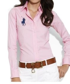 outfit pink button up Mode Outfits, Fashion Outfits, Womens Fashion, Girl Fashion, Preppy Fashion, Preppy Mode, Preppy Style, Classic Outfits, Casual Outfits