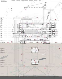 """Evolo Competition entry by Ku Yee Kee and Hor Sue-Wern of Malaysia - """"Transforming Abandoned Oil Rigs into Habitable Structures"""""""