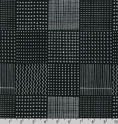 14 Yards in Stock - Robert Kaufman - Blueberry Park - Black/White by Karen Lewis - 100% Cotton