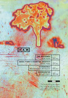 Poster. Client: 4AD. Artwork by: Marc Atkins. Art Direction: Vaughan Oliver. Designed by: Chris Bigg