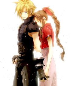 """dansantcaparet:  """"Cloud was her friend, herkoibito(lover in Japanese) - a symbol of what was important to her, and someone to be protected."""" ~Case of Lifestream: White, Square Enix """"After the explosion of the First Reactor, Cloud met Aerith while running away alone. Cloud left the place, remembering themysterious feeling he had for Aerith from the small conversation."""" ~Final Fantasy Story Playback, Page 111"""