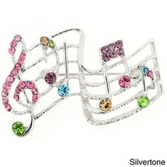 Multicolor Music Note Pin Music Pin Brooch | Overstock™ Shopping - Big Discounts on Brooches & Pins