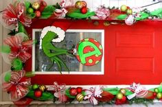 Grinch Whoville Christmas Party Holidays Decor (17) – Vanchitecture Grinch Christmas Party, Grinch Who Stole Christmas, Grinch Party, Christmas Wreaths, Christmas Crafts, Xmas, Christmas Ideas, Christmas Cubicle Decorations, Holiday Parties