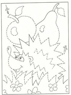 Jesienne pisanie po śladzie Drawing For Kids, Art For Kids, Crafts For Kids, Preschool Writing, Preschool Worksheets, Hedgehog Craft, Fall Coloring Pages, Autumn Activities For Kids, Pre Writing