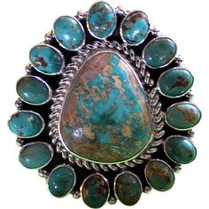 Native American Turquoise Sterling Ring - Native American Turquoise Sterling Ring