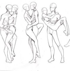 More romantic couple poses, could perhaps be used for a dance or wedding scene