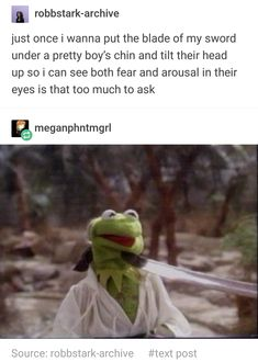 Just once i wanna put the blade of my sword under a pretty boy's Chin and tilt their head up so i can see both fear and arousal in their eyes is that too much to ask - iFunny :) Book Memes, Dankest Memes, Funny Memes, That's Hilarious, Izu, Really Funny, The Funny, Holly Black Books, Book Fandoms