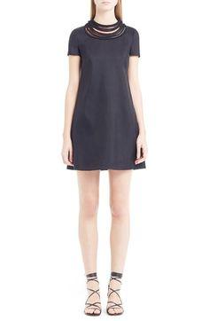 VALENTINO Rope Detail Cashmere & Silk Shift Dress. #valentino #cloth #