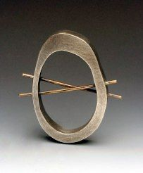 Brooch by Talya Baharal and Gene Gnida.  Every piece of their jewelry is fabulous.