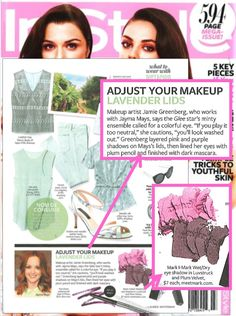 mark's I-marks Wet/Dry Eye Shadows  and mark Celebrity Makeup Artist Jamie Greenberg's eye shadow tips featured in InStyle Magazine