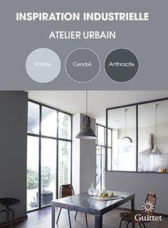 Collection Inspiration Industrielle de GUITTET. Une palette de couleurs, sophistiquée, aux tonalités brutes pour un esprit résolument citadin, empreint de caractère.