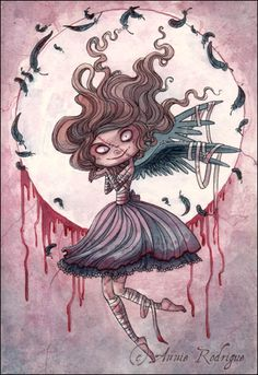 Little Raven Lady by Annie Rodrigue.