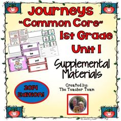The Storm Supplemental Activities 1st Grade Journeys Unit ...