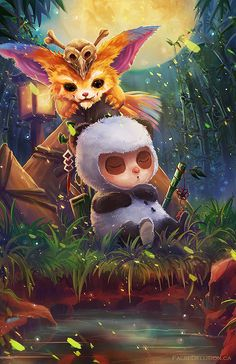 Teemo+Gnar by FalseDelusion on DeviantArt