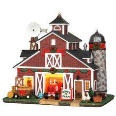 Carole towne christmas porcelain lighted dodd s farm christmas