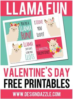 I think these are my favorite Valentine cards I've ever had! I love the cute Llama's and the cute sayings that go with the free Llama Valentine cards. Bear Valentines, Valentine Day Boxes, Valentines Day Party, Valentine Day Crafts, Valentine Decorations, Valentine Cards, Funny Valentine, Diy Valentine's Day Gifts For Her, Valentine's Day Printables