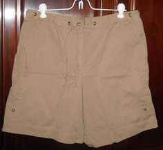 $9.59 & Ships Free!  Rafaella Beige Khaki Shorts Size 12 100% Cotton Free Shipping #Rafaella #CasualShorts
