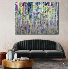 Room View - A Nighttime Carnival (A Closer Look) by Nestor Toro Large Painting, Acrylic Painting Canvas, Abstract Art For Sale, Abstract Painters, Painting Edges, Abstract Expressionism Art, Original Paintings, Sculptures, Artists
