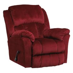 Catnapper Gibson Lay Flat Recliner in Berry